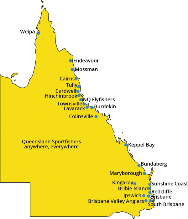 ANSA QLD Clubs map